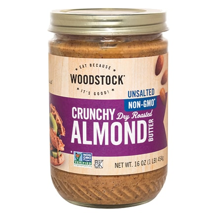 Almond Butter, Crunchy, Unsalted