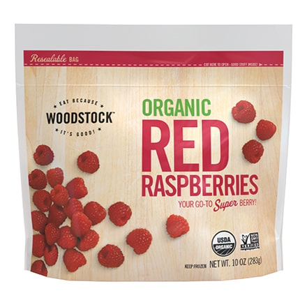 Organic Frozen Red Raspberries