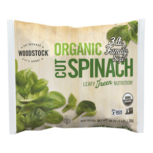 Organic Frozen Cut Spinach, 3 lb.