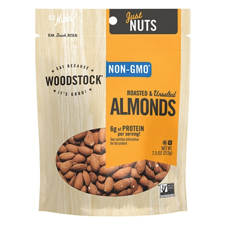 Almonds, Roasted & Unsalted