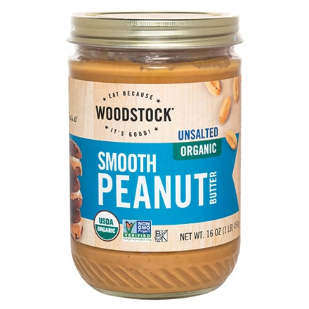 Organic Peanut Butter, Smooth, Unsalted