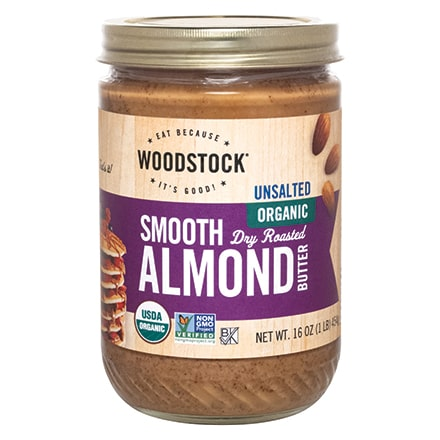 Organic Almond Butter, Smooth, Unsalted
