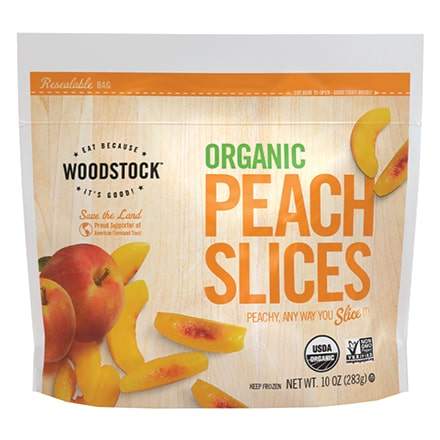 Organic Frozen Peach Slices