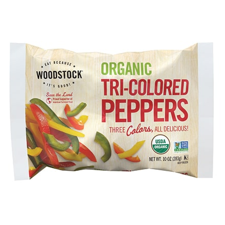 Organic Frozen Tri-colored Peppers