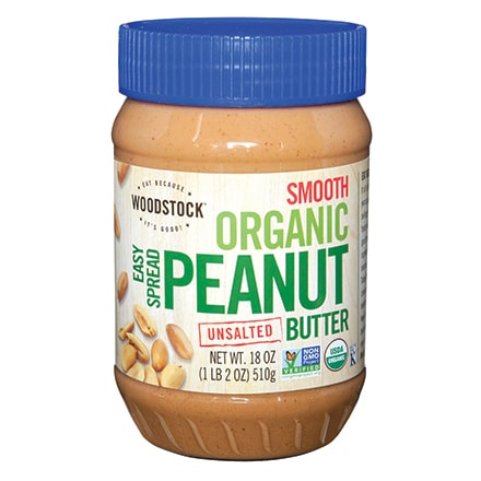 Organic Easy Spread Peanut Butter, Smooth, Unsalted