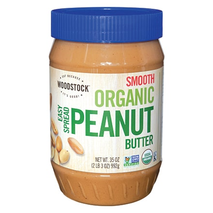 Organic Easy Spread Peanut Butter, Smooth, 35 oz.