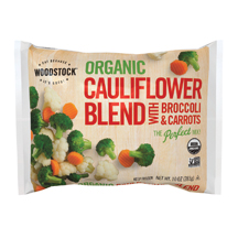 Organic Frozen Cauliflower w/Broccoli and Carrots