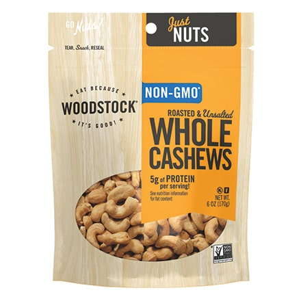 Cashews, Roasted & Unsalted