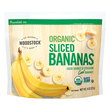 Organic Frozen Banana Slices