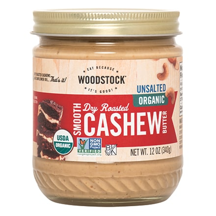 Cashew Butter, Smooth, Organic, Unsalted