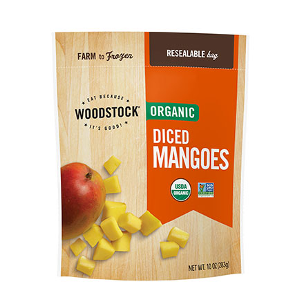 Organic Frozen Diced Mangoes, 32oz.