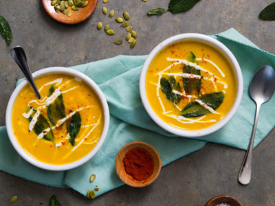 Butternut Pear Soup with Cashew Cream