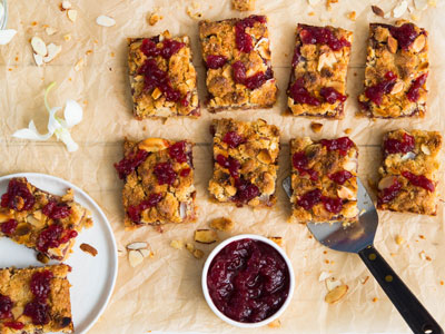 Cranberry-Almond Crumble Bars