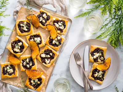 Fig and Goat Cheese Hand Tarts