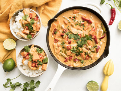 Thai-Style Chicken and Sweet Potato Yellow Curry